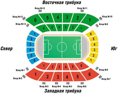 План-схема стадиона Кубань